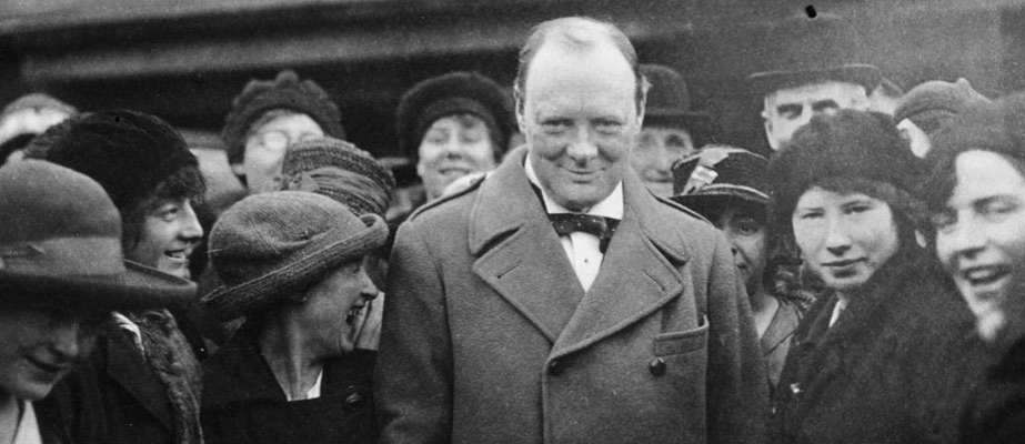 Winston Churchill v roce 1918