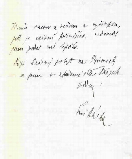 Rukopis dr. Emil Háchy