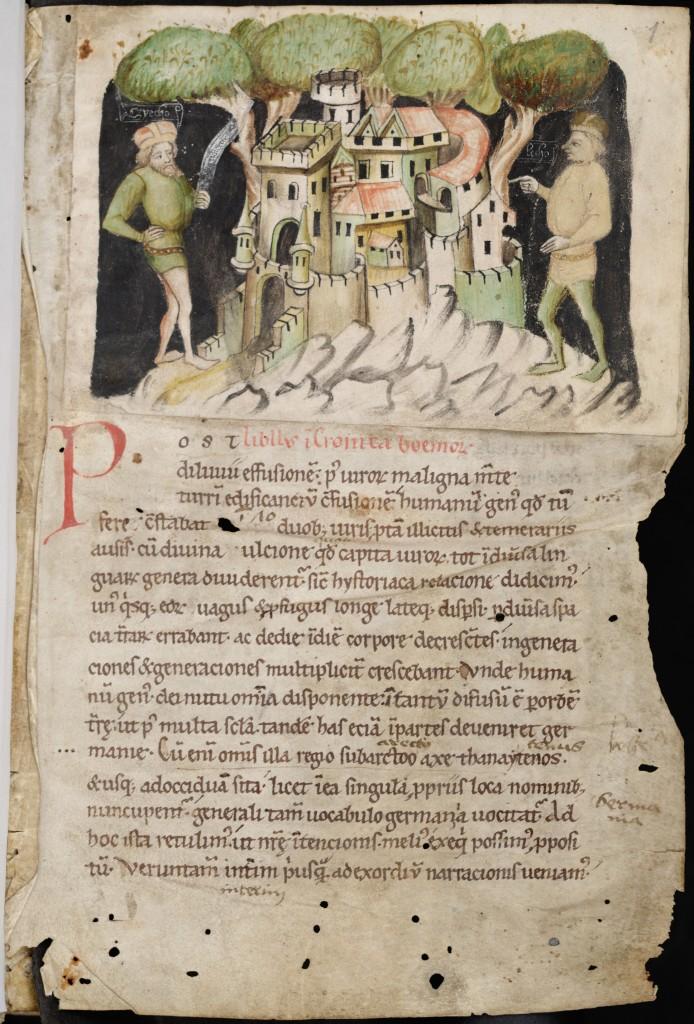 Budyšínský rukopis s vyobrazením Pražského hradu