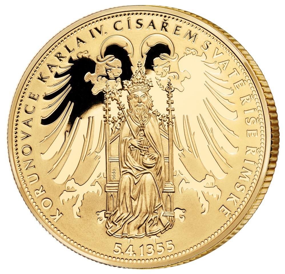 Pamětní medaile - 660. výročí korunovace Karla IV. císařem