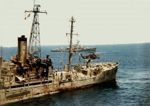 USS Liberty po útoku
