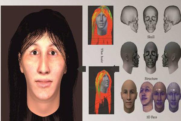 3D rekontrukce obličeje ženy žijící před 7 000 lety