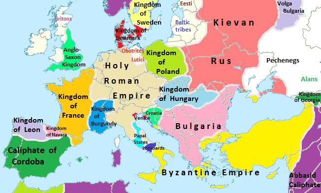 Evropa v roce 1000