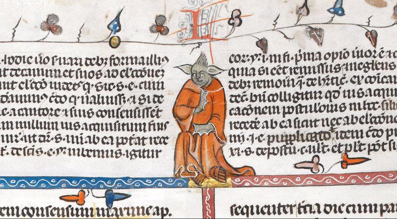 Yoda ze 14. století v rukopisu British Library