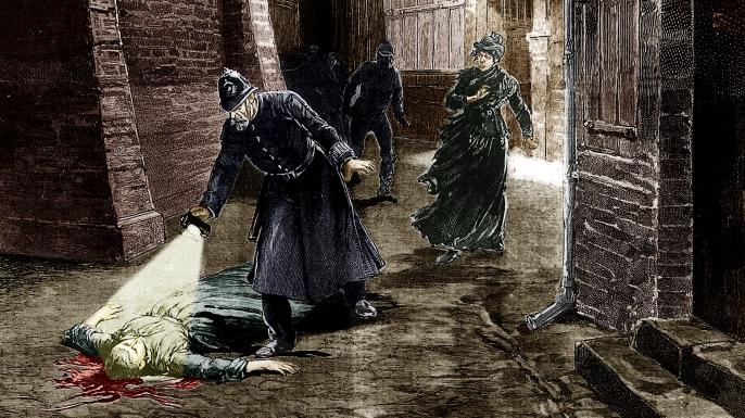 Dobová kresba - řádění Jacka Rozparovače