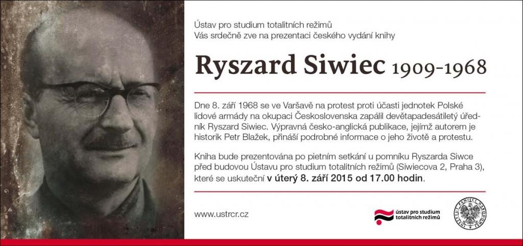 Pozvánka kniha Ryszard Siwiec