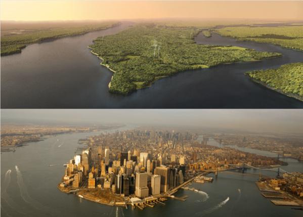 Manhattan před rokem 1609