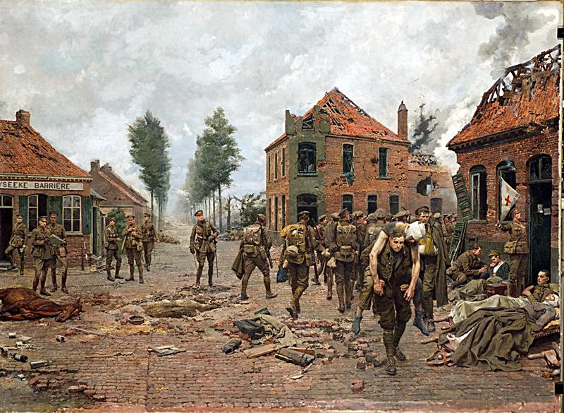 Obraz, na kterém Hitler poznal vojáka, který ho ušetřil