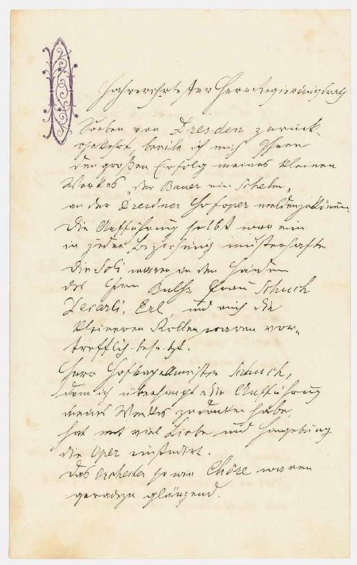 Dopis Antonína Dvořáka