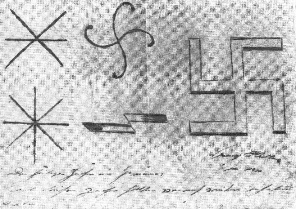 Adolf Hitler si kreslil hákový kříž
