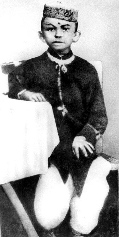 Mahátma Gándhí jako chlapec