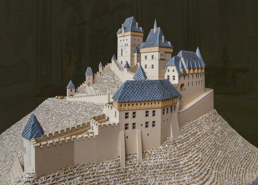 model hradu Karlštejn