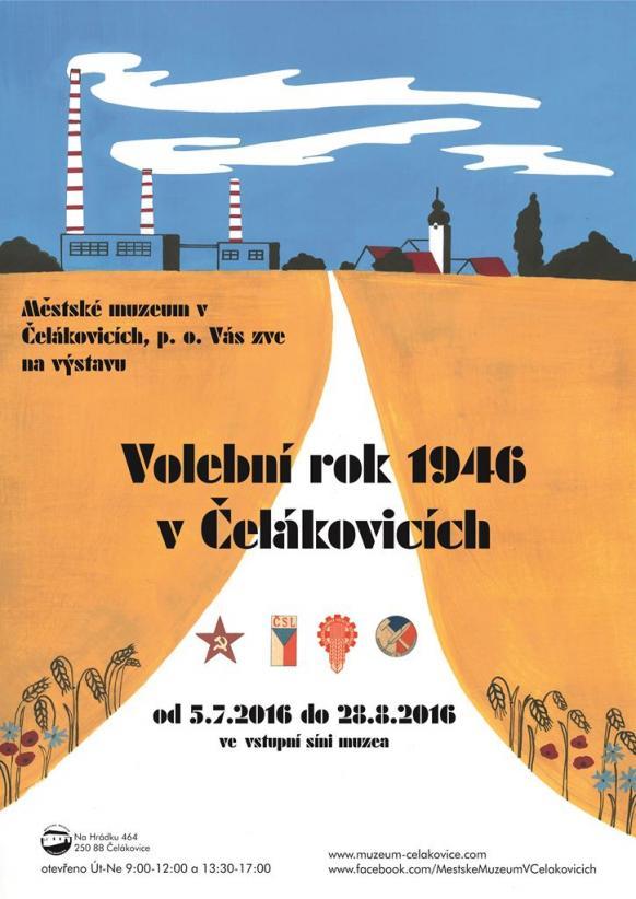 Plakát Volby 1946 v Čelákovicích
