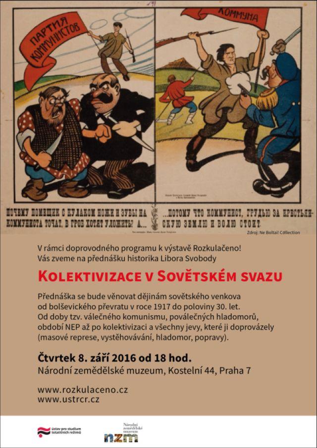 Pozvánka přednáška Kolektivizace v Sovětském svazu