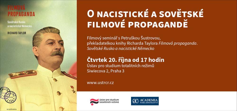 Pozvánka na seminář O nacistické a sovětské filmové propagandě
