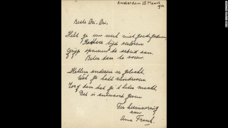 Báseň Anny Frankové