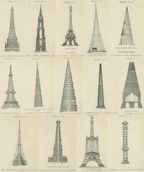 Návrhy na Eiffelovu věž