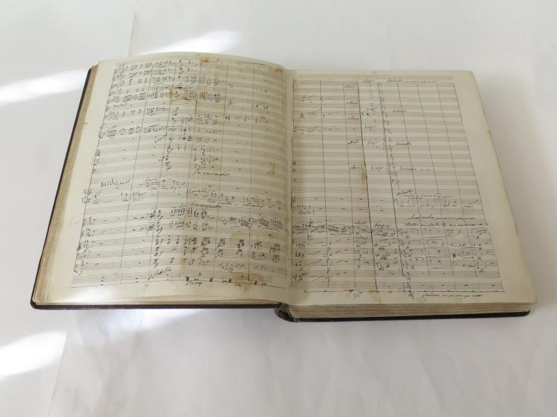 Rukopisná partitura Rusalky