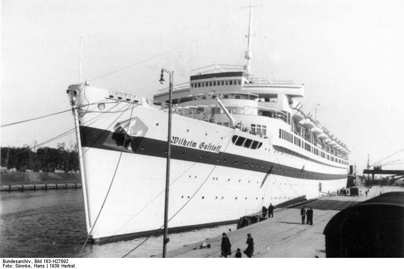 Loď Wilhelm Gustloff v Gdaňsku