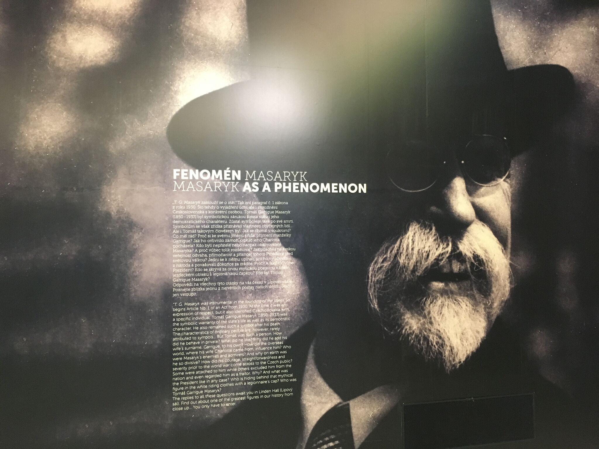 Panel na výstavě Fenomén Masaryk