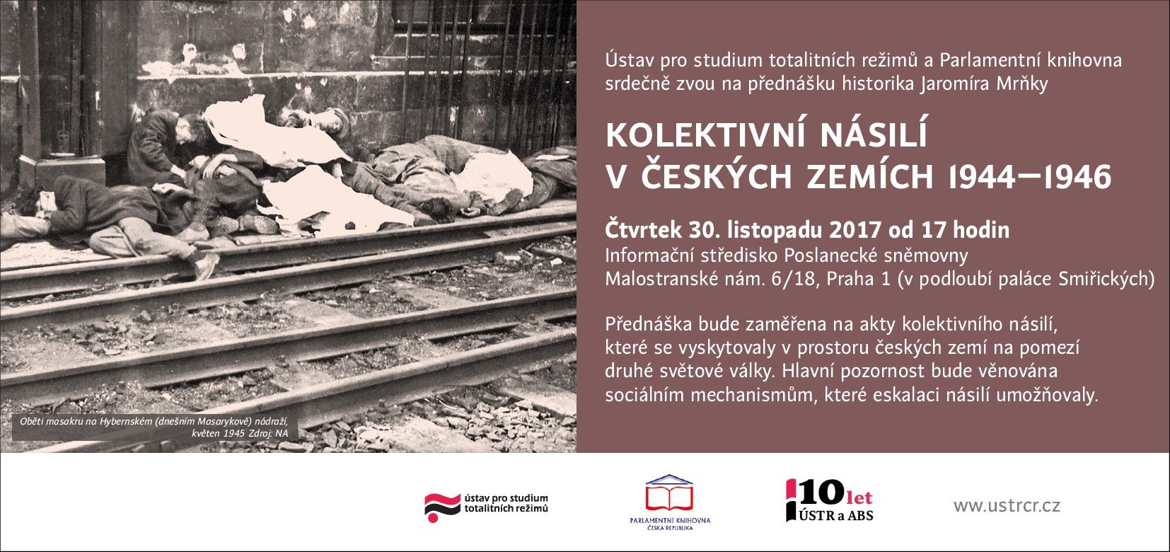 Přednáška Kolektivní násilí v českých zemích v letech 1944-1946