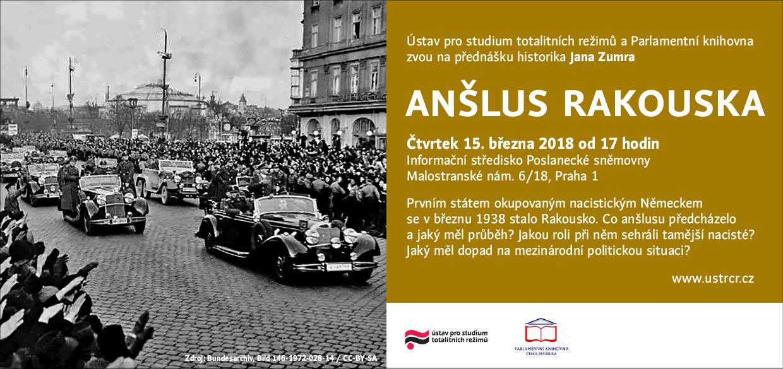 Pozvánka na přednášku Anšlus Rakouska