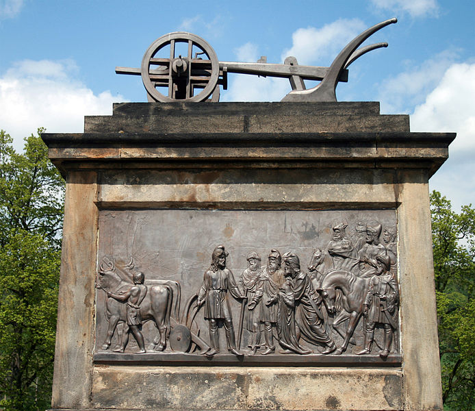 Pomník Přemysla Oráče ve Stadicích