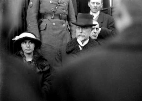 Návrat T. G. Masaryka z exilu. Zastávka v Táboře, 21. prosince 1918.